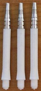 "10 Sets (10X3) ""Harrows Alamo"" White,Medium Dart Stems/Shafts (2ba thread)"