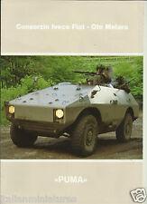 Fiat Iveco Oto Melara Puma Light Armoured Vehicle Brochure Italian Army 4x4 6x6