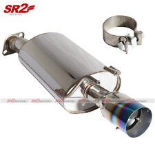Stainless Steel Axleback Exhaust Burnt Tip Muffler fits 12-15 Civic Si 2/4DR