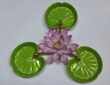 Herend Seerose mit  3 Viktoria-Blättern  (4.tlg)