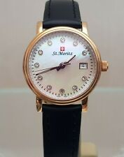 ROTARY ST.Moritz SWISS MADE Ladies Watch Swarovski crystals dial RRP £250