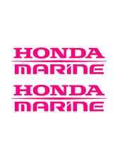 (2) Honda Marine Decals HOT PINK Sticker boat fish ski outboard aquatrax jetski