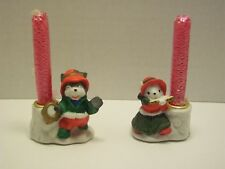 Vintage Christmas Candle Holders House of Lloyd Notes of Cheer Decoration Gift