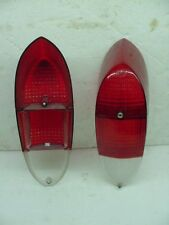 oem nos German Volkswagen Karmann Ghia 1970-1971 Red Tail Light Lense pair