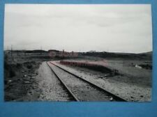 PHOTO  CWM BARGOED RAILWAY STATION VIEW OF THE REMAINING PLATFORM WITH ONE TRACK