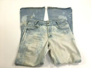 Vintage Levis Womens Orange Tab Bleached Acid Wash Destroyed Bell Bottom Jeans
