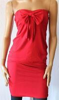 Cherrie Designer Red Big Bow Strapless Tube Dress Size 10 BNWT [SE83]