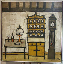 Colin Ruffell Farmhouse kitchen original oil painting large + freight