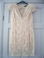 ASOS - Gorgeous Ivory Lace & Embellished Neckline Bodycon Dress Size 10 bnwts