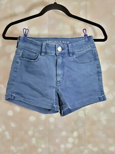 AMERICAN EAGLE OUTFITTERS SUPER STRETCH HI-RISE SHORTIE SIZE 0