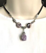 Natural Gemstone Amethyst Necklace Pendant Chakra Fengshui USA