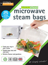 Microwave Steam Bags LARGE 25 pk - quickasteam - healthy quick easy