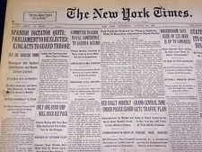 1930 JANUARY 29 NEW YORK TIMES - SPANISH DICTATOR QUITS - NT 3909