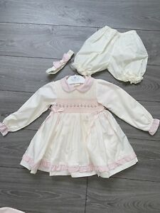 Girls Pretty Originals Dress And Bloomers Age 9 Months