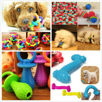 Pet Dog Puppy Cat Play Ball Squeaky Squeaker Quack Sound Chew Training Funny Toy