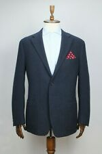 $1340 CORNELIANI Navy Blue CASHMERE & WOOL Sport Coat Blazer Jacket 56IT 46US/UK