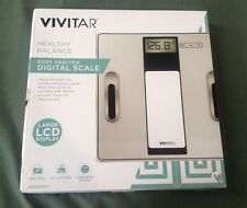 Vivitar Healthy Balance Body Analysis Digital Scale w/ Large LCD Display Silver