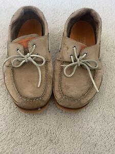 Sperry Topsider Four Eyelet Boat Shoes, Tan & Orange, 9M