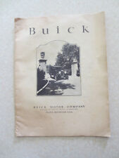Original 1924 Buick six & four cylinder cars adverstising booklet
