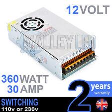 12V DC 360w 30A 230v 110v Switching Power Supply for LED Strip Driver CCTV