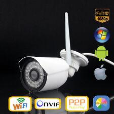 Outdoor Network IP Camera Wide Angle Wireless Wifi HD IR 1080P Audio NightVision