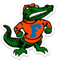 "Florida ""University of Florida"" Mascot ""Albert"" Type Magnet"