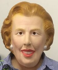 Margaret Thatcher Latex Mask Fancy Dress Maggie Iron Lady Costume Prime Minister