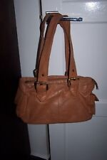 JOSHUA TAYLOR – MEDIUM SHOULDER HANDBAG – orange TAN brown LEATHER