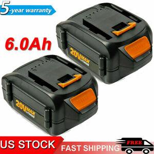 For WORX WA3520 20V Lithium-Ion Battery 6.0Ah WA3575 WA3525 WA3578 WA3512 WG151s