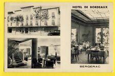 cpa FRANCE Old Postcard 24 - BERGERAC (Dordogne) HÔTEL de BORDEAUX Gérant MAURY