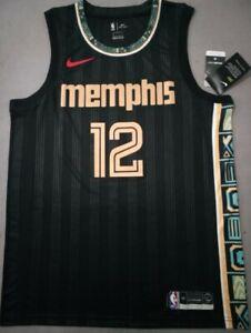 Memphis Grizzlies 2020-21 Ja Morant #12 Jersey Black City Edition