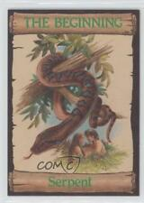 1989 re-Ed Bible Cards The Beginning #5 Serpent Non-Sports Card 0q3