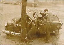 Accident de la Route c. 1955 - Collision Renault 4CV  Boulevard Bessière - PR 91