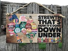 AUSSIEWooden Sign plaque Country Bar,GARAGE,Shed, Home decor  AU