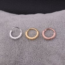 Heart Cartilage Earring Tragus Nose Body Eyebrow Hoop Piercing Conch Ring Stud