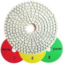 4 3 Step Wetdry Diamond Polishing Pads For Granite Marble Stone 3pcs Set