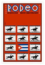 "Cuban decor Graphic Design movie Poster 4 film""RODEO""running horse art.Cuba"
