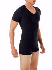 Gents Microfiber Fit Stretch Control V Neck T Shirt Slimming Underwear For Men