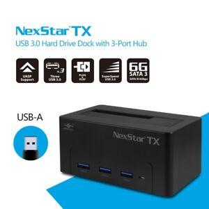 Vantec NexStar® TX USB 3.0 Hard Drive Dock with 3-Port Hub