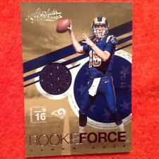 2016 Panini Absolute Rookie Force Silver Jared Goff #/50 Jersey Card RAMS RC HTF