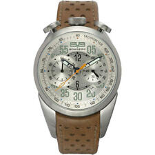 NEW BOMBERG 1968 CHRONOGRAPH DATE BROWN LEATHER MEN'S WATCH NS39CHSS.SI0.1.LBE