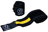 Strength Shop Thor Wrist Wraps - 30cm 60cm 80cm 90cm-Yellow/Black - IPF APPROVED