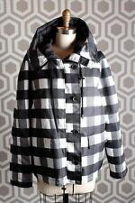 NWT MSGM Checkered Plaid Puffer Jacket Coat 42 Italy $1315