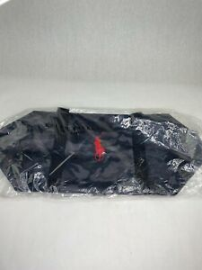 New Ralph Lauren POLO 26 In Camo Duffle Travel Gym Bag Red Emblem Shoulder Strap