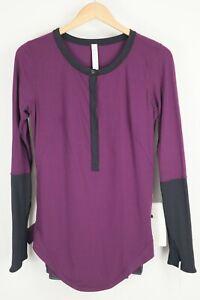 NWT Lululemon Urbanite Henley Long Sleeve Size 10 Plum Shirt Thumbhole