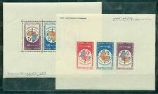 Tunisia, 1966, Cartographic Conference, perforated + imperforated 2 blocks