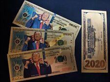 Gold Foil Donald Trump 2020 Dollar Bill MAGA 2020 Novelty Bill Rare! US Seller