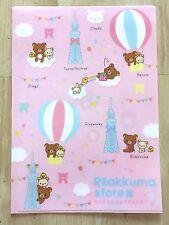 Tokyo Sky Tree Limited SAN-X Rilakkuma A4 Inside 2 pockets Clear files folder P