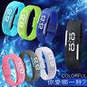Men Women Rubber LED Waterproof Watch Date Bracelet Digital Sport Wristwatch New