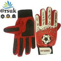 Sunderland Goalkeeper Gloves For Junior Kids Keeper Football Goalie Finger Save